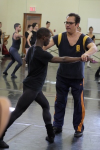 In a master class Jock Soto worked closely with Dancers at Idyllwild Arts