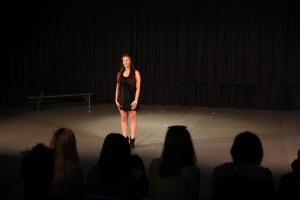 AEL Grant Recipient Natalia Greets the Audience